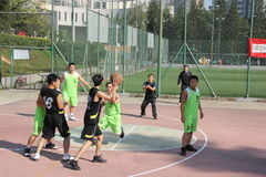 Intense company basketball game in SHENZHEN Royalty Free Stock Photography