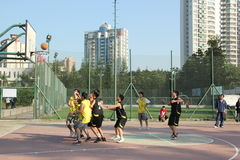 Intense company basketball game in SHENZHEN Royalty Free Stock Image