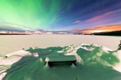 Intense display of Northern Lights Aurora borealis royalty free stock photo