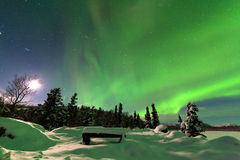 Intense display of Northern Lights Aurora borealis royalty free stock image