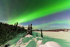 Intense display of Northern Lights Aurora borealis Royalty Free Stock Image