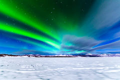 Intense display of Northern Lights Aurora borealis Stock Photo