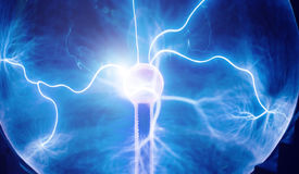 Intense electrical discharge Royalty Free Stock Image