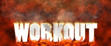 Intense Fat Burning Workout Illustration Stock Photography