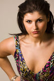 Intense female. Beautiful female with intense expression royalty free stock photos