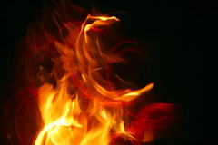 Intense heat. Study of pattern and color of flames Royalty Free Stock Photos
