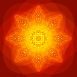 Intense Kaleidoscope. Abstract kaleidoscope in vivid yellow, orange and red Royalty Free Stock Photography