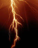 Intense lightning. On a red background Royalty Free Stock Images