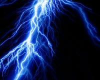 Intense lightning. On a black background Stock Images