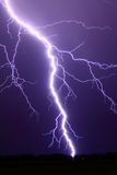 Intense lightning bolt Stock Images