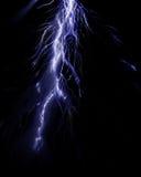 Intense lightning storm. On a dark background Stock Images