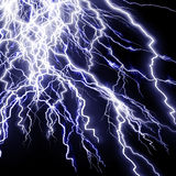 Intense lightning storm. Or electricity on a dark background Stock Photography