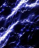 Intense lightning storm. Or electricity on a dark background vector illustration