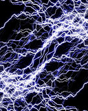 Intense lightning storm Royalty Free Stock Photos