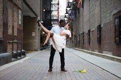 Intense Love Outdoors Royalty Free Stock Photos
