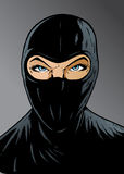 Intense Ninja girl, thief or special forces. Intense Ninja, thief or special forces Stock Photography