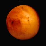 Intense orange mars like sphere Stock Images