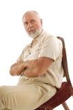 Intense oudere mens Royalty-vrije Stock Fotografie