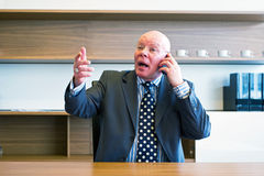 Intense phone call stock photos