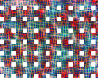 Intense red and blue abstract background with white squares. Vivid abstract background in red, green and blue hues with white squares. Background and texture stock illustration