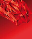 Intense Red polygonal design Royalty Free Stock Images