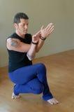 Intense yoga Squat Royalty Free Stock Photos