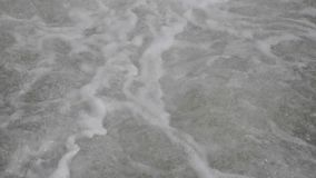 Intensely bubbling, rapidly flowing water stock footage