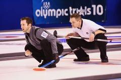Intensiteit bij de Olympische het Krullen van de V.S. Proeven Stock Foto's