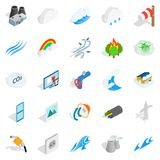 Intensity icons set, isometric style. Intensity icons set. Isometric set of 25 intensity vector icons for web isolated on white background Stock Photo