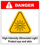 Intensity Ultraviolet Light Protect Your Eyes and Skin UV Royalty Free Stock Photo