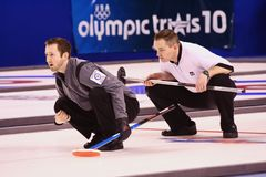 Intensity at the US Olympic Curling Trials Stock Photos
