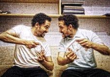 Intensiv dobbelkonkurrens Fotografering för Bildbyråer