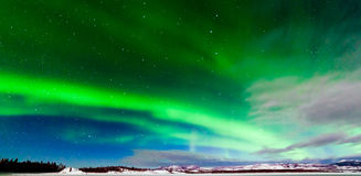 Intensiv skärm av nordligt tänder norrsken Royaltyfri Foto