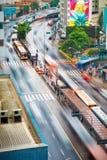 Intensiv trafik royaltyfria foton
