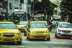 Intensiv trafik i Rio de Janeiro fotografering för bildbyråer