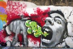intensiva grafitti Royaltyfri Bild