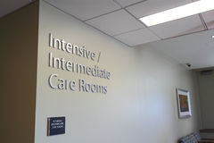 Intensive Care Rooms. Intensive Intermediate Care Rooms in Hospital, ICU stock images