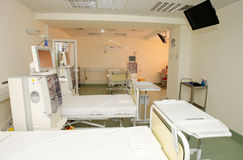 Intensive care unit. In an emergency hospital royalty free stock images