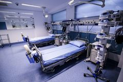 Intensive care unit. In a orthopedic hospital stock images