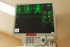 Intensive care unit monitor. Close up of Monitor in ICU Royalty Free Stock Photos