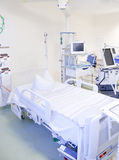 Intensive care unit with monitors Royalty Free Stock Photo