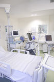 Intensive care unit with monitors Royalty Free Stock Image