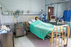 Intensive care unit simulation room Stock Photo