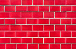Intensive red brick wall Stock Photo
