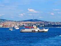 Intensive traffic in the Bosphorus. Stock Photos