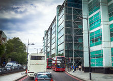 Intensive traffic on one of the streets at Westminster district. London Stock Images