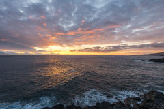 Intensiver Sonnenuntergang Lizenzfreie Stockfotos
