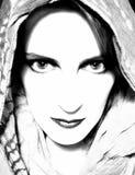 intensywna gapiowska naprzód kobieta Zdjęcia Stock