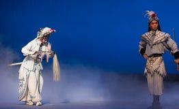 """Intente los medios de la feria antes de quinto acto de recurso de la fuerza- roban el  blanco inmortal-Kunqu de Opera""""Madame S Imagenes de archivo"""