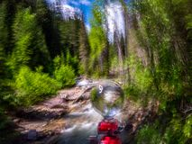 Intentional Abstract Wilderness Image of Canyon Creek stock image